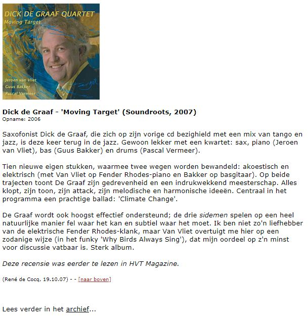 CD-recensie Moving target HVT Magazine juni 2007