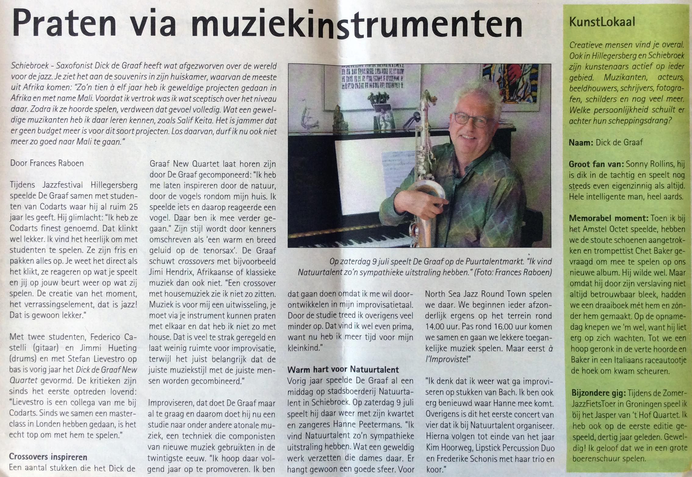 Interview Hart van Holland 6 juli 2016